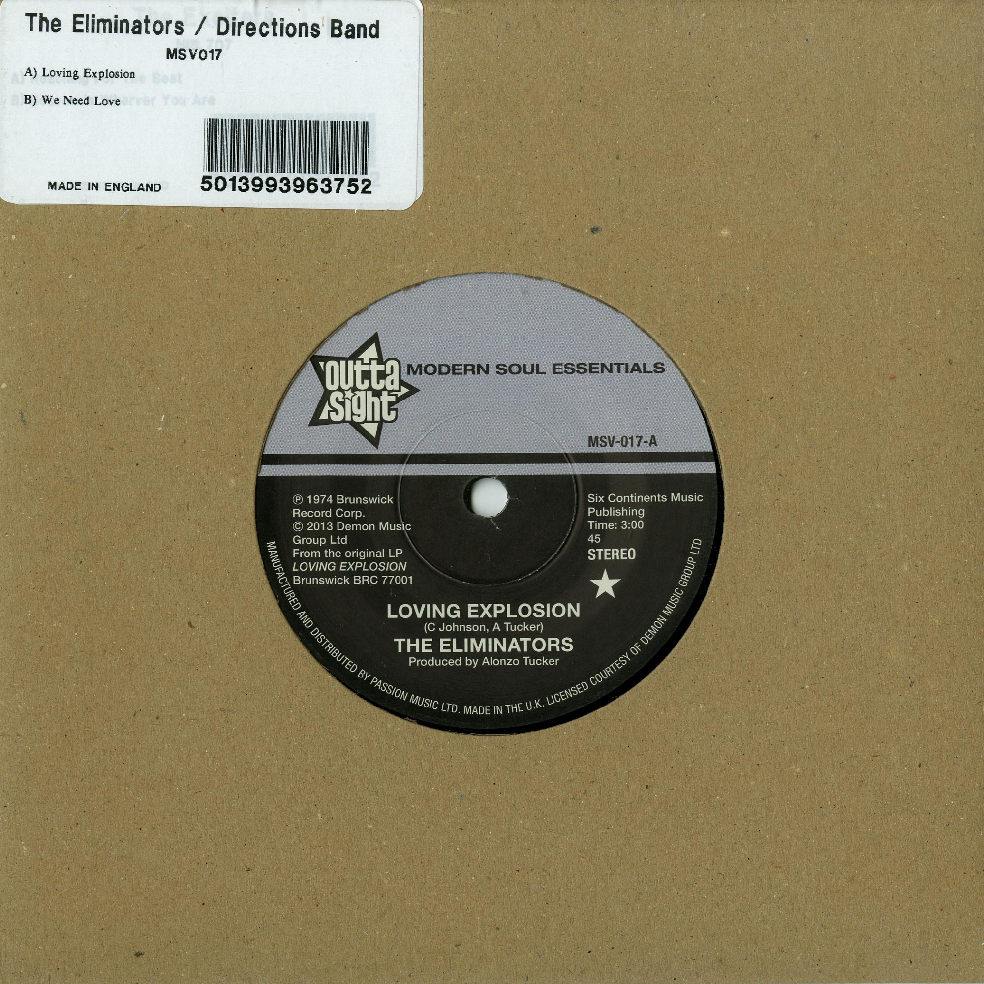 The Eliminators / Directions Band - LOVING EXPLOSION / WE NEED LOVE