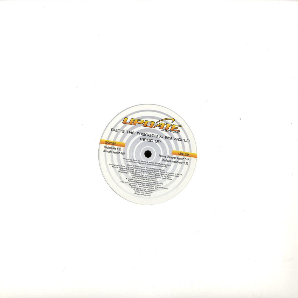 Denis The Menace & Big World - FIRE UP / AC REMIXES