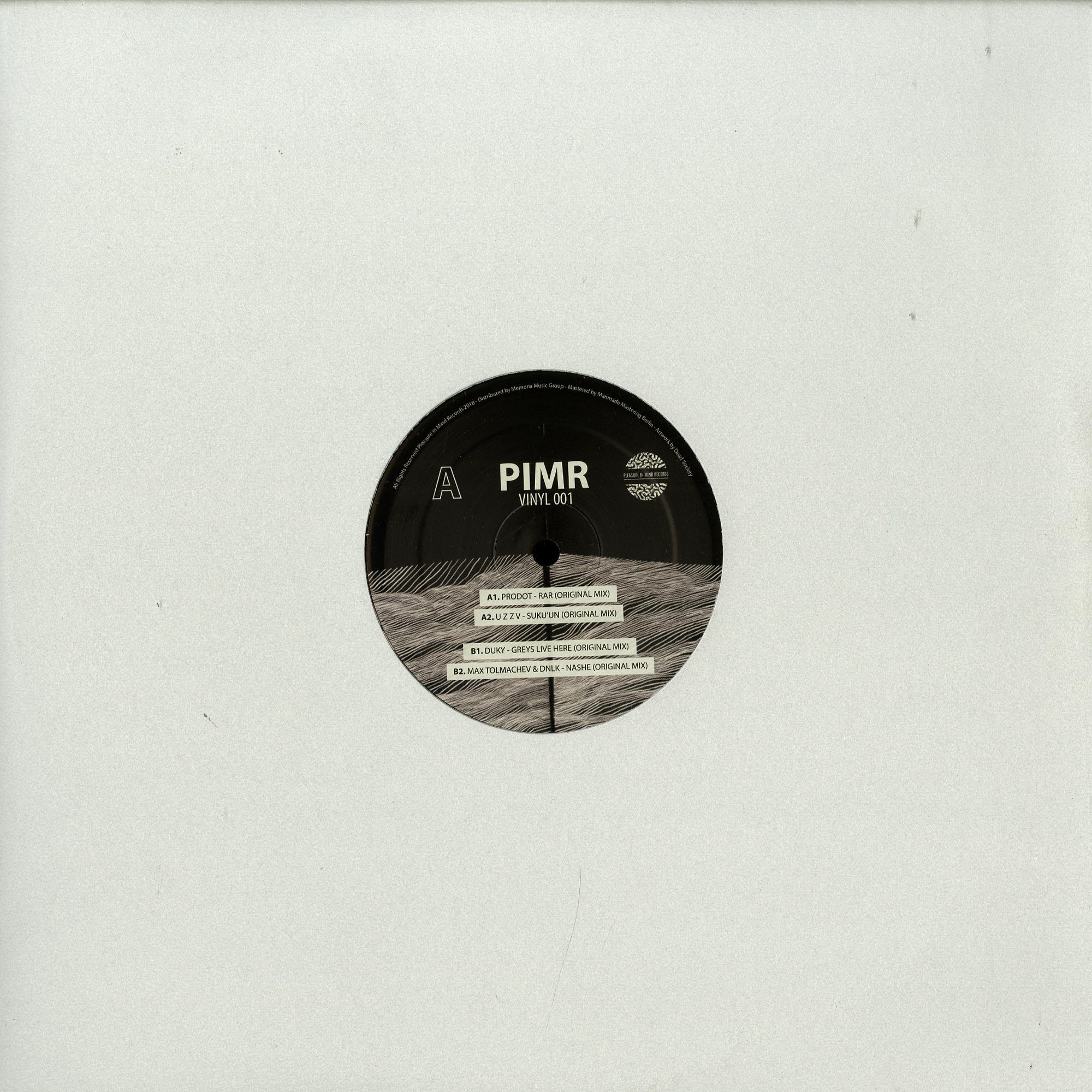 Prodot / u z z v / Duky / Max Tolmachev & Dnlk - PIMR VINYL 001