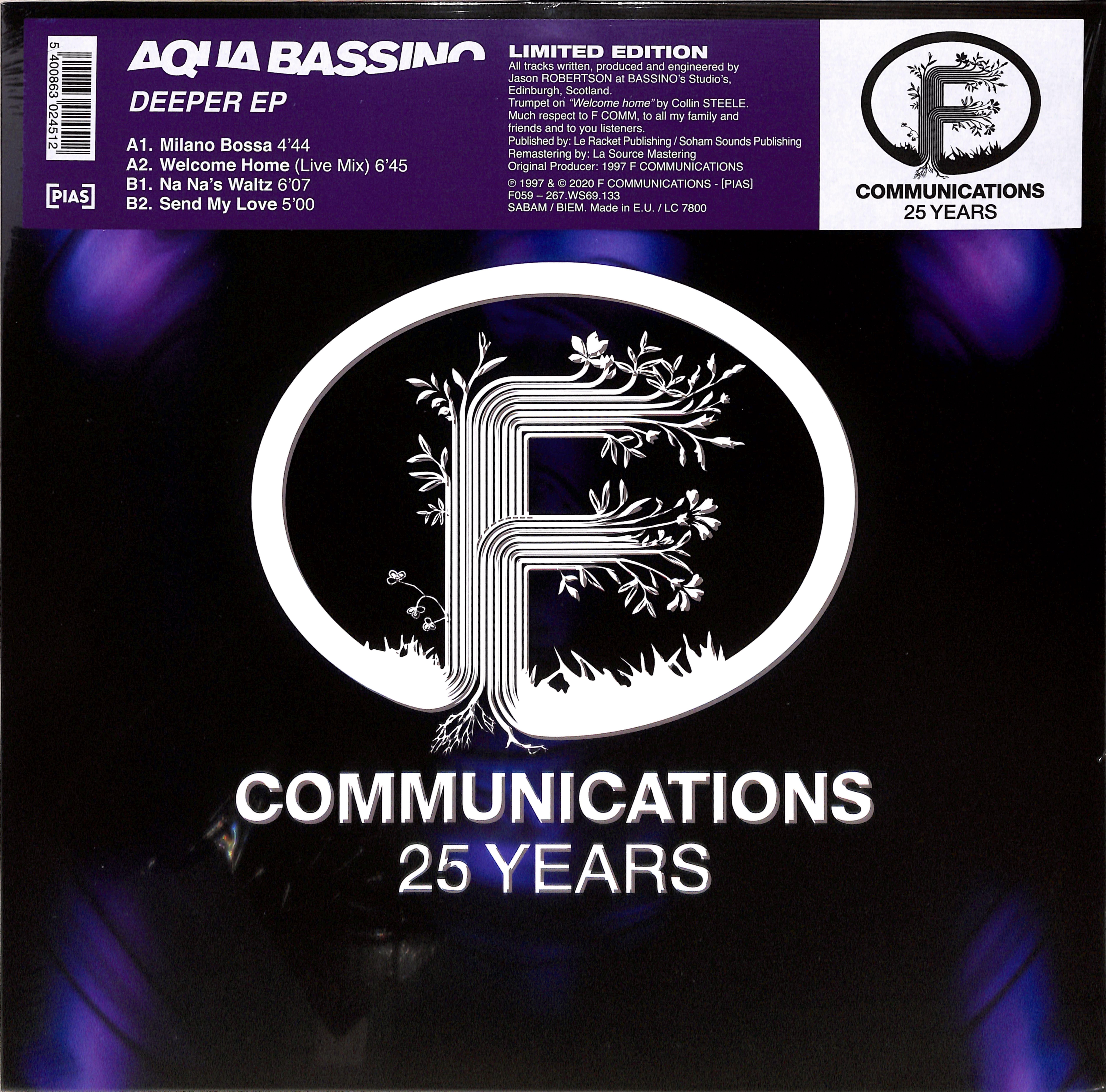Aqua Bassino - DEEPER EP
